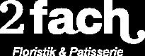2fach Floristik & Patisserie Logo
